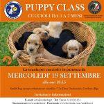 PUPPY CLASS 2.0 – DA MERCOLEDI' 19 SETTEMBRE cuccioli alla riscossa
