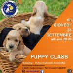 PUPPY CLASS per-corso cuccioli settembre 2020
